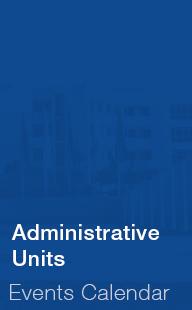 Administrative Units Events Calendar