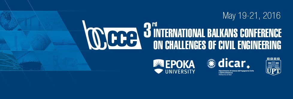 3rd International Balkans Conference on Challenges of Civil Engineering