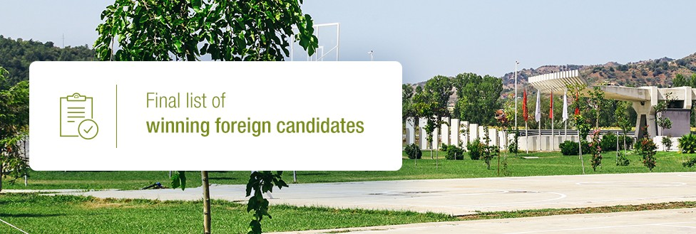 Final list of winning foreign candidates